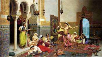 unknow artist Arab or Arabic people and life. Orientalism oil paintings  379