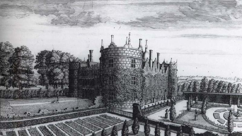unknow artist View of Longford Castle at an angle with the  second flower garden