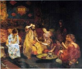 unknow artist Arab or Arabic people and life. Orientalism oil paintings 294
