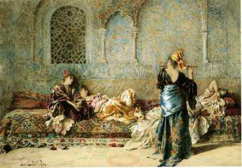 unknow artist Arab or Arabic people and life. Orientalism oil paintings  389