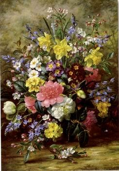 unknow artist Floral, beautiful classical still life of flowers.105