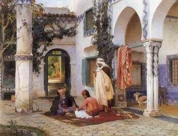 unknow artist Arab or Arabic people and life. Orientalism oil paintings  339