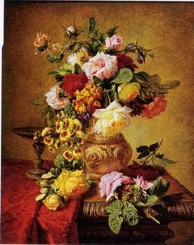 unknow artist Floral, beautiful classical still life of flowers.109