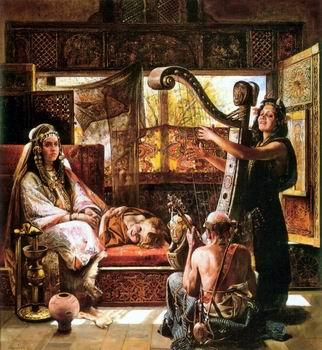 unknow artist Arab or Arabic people and life. Orientalism oil paintings  530