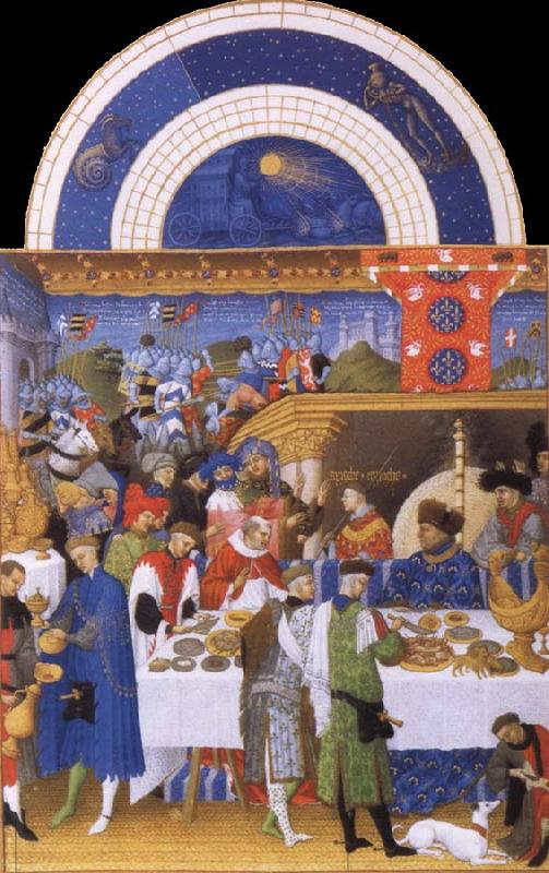 unknow artist Beures avenge the guest meal of the duke of Berry miniature out of harvest tres you Duc de Berry