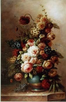 unknow artist Floral, beautiful classical still life of flowers.047