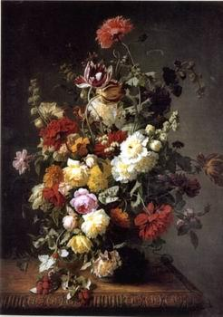 unknow artist Floral, beautiful classical still life of flowers.057