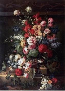 unknow artist Floral, beautiful classical still life of flowers.065