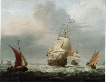 unknow artist Seascape, boats, ships and warships. 30