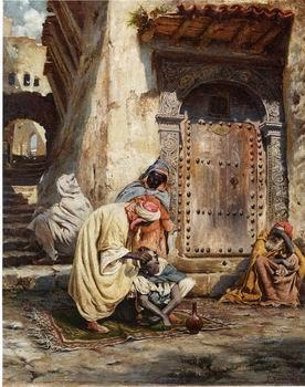 unknow artist Arab or Arabic people and life. Orientalism oil paintings 444