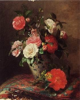 unknow artist Floral, beautiful classical still life of flowers 026