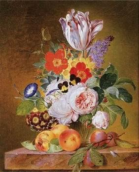 unknow artist Floral, beautiful classical still life of flowers 015
