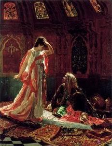 unknow artist Arab or Arabic people and life. Orientalism oil paintings 212