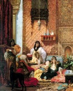 unknow artist Arab or Arabic people and life. Orientalism oil paintings 290