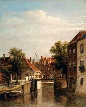 unknow artist European city landscape, street landsacpe, construction, frontstore, building and architecture.057 oil painting image