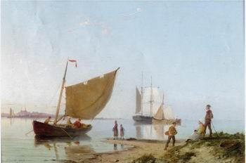 unknow artist Seascape, boats, ships and warships. 01