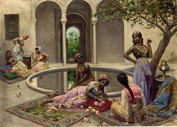 unknow artist Arab or Arabic people and life. Orientalism oil paintings 386