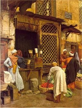 unknow artist Arab or Arabic people and life. Orientalism oil paintings  489