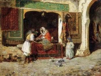 unknow artist Arab or Arabic people and life. Orientalism oil paintings  261
