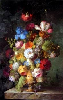unknow artist Floral, beautiful classical still life of flowers.02
