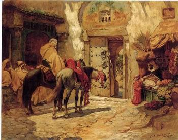 unknow artist Arab or Arabic people and life. Orientalism oil paintings  438