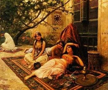 unknow artist Arab or Arabic people and life. Orientalism oil paintings  236