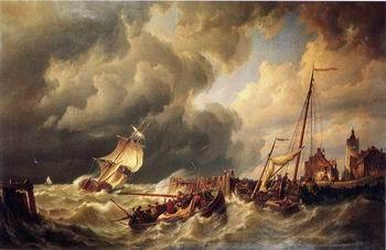 unknow artist Seascape, boats, ships and warships.95