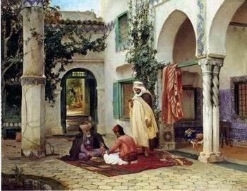 unknow artist Arab or Arabic people and life. Orientalism oil paintings 91