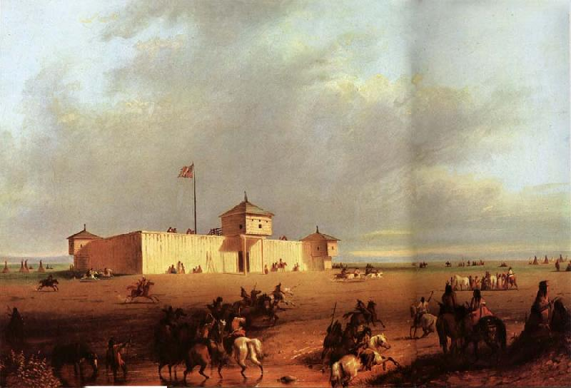 Alfred Jacob Miller Fort William on the Laramie