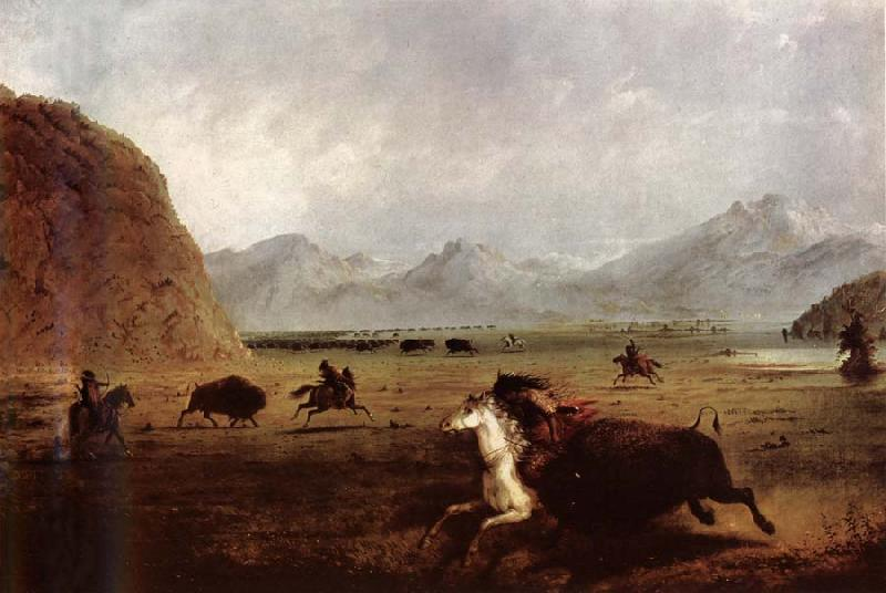 Alfred Jacob Miller Buffalo Hunt