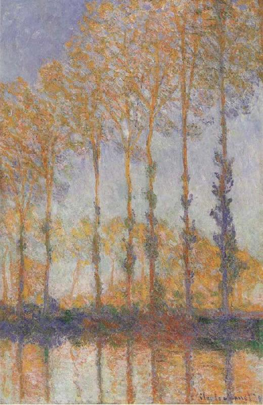 Claude Monet Poplars on the banks of the EPTE