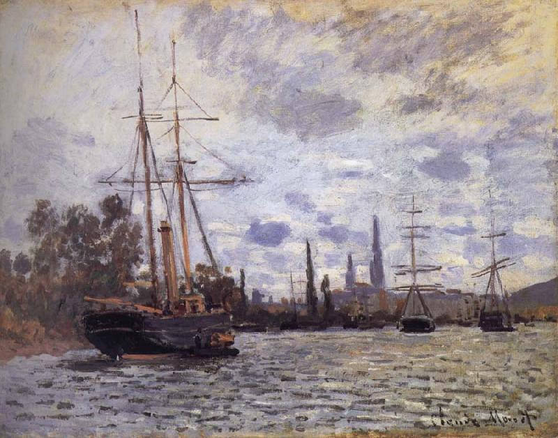 Claude Monet THe Seine at Rouen oil painting image