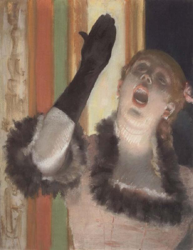 Edgar Degas Singer with a Glove