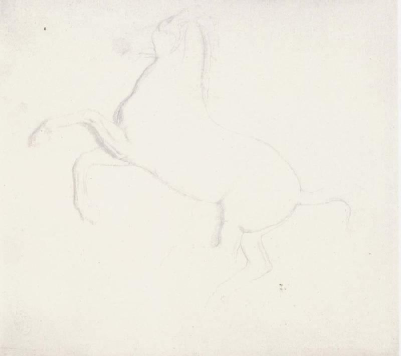 Edgar Degas Study of a Horse from the Parthenon Frieze