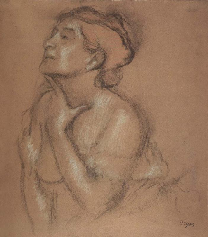 Edgar Degas Half-Langth Study of a Woman