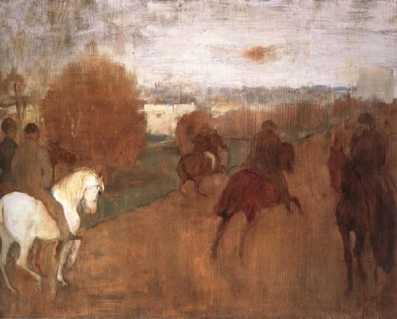 Edgar Degas Horses and Riders on a road