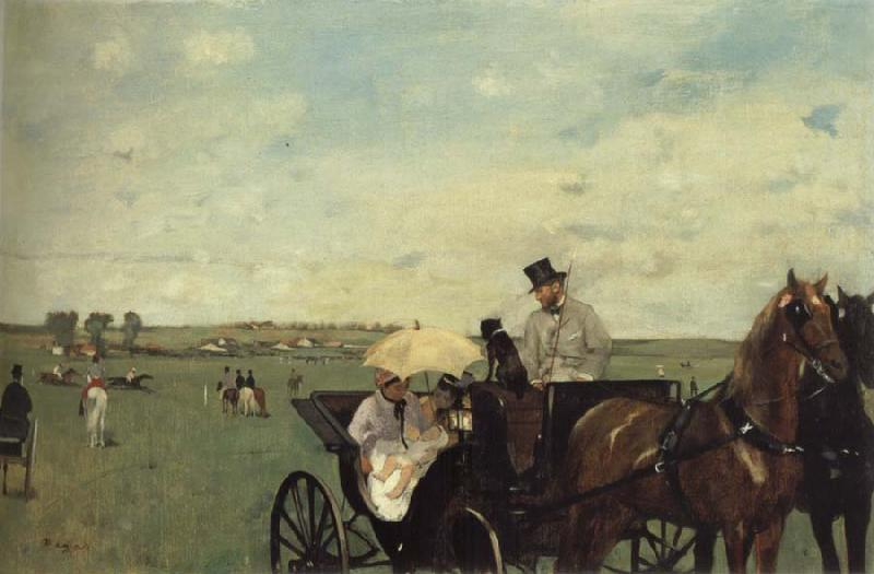 Edgar Degas At the Races in the Countryside