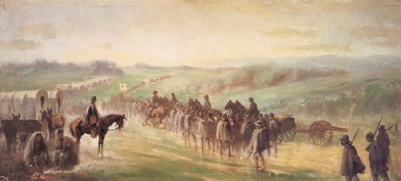 Forbes, Edwin Marching in the Rain After Gettysburg