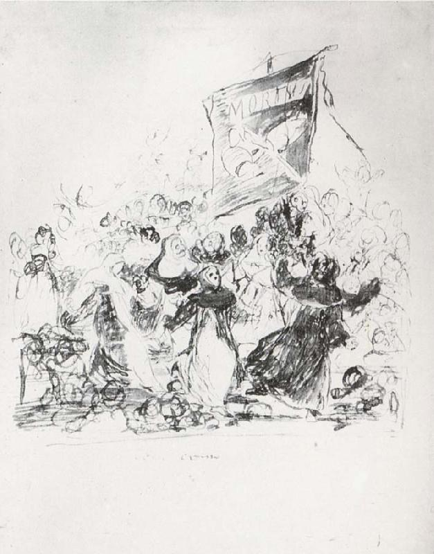 Francisco Goya Drawing for plate 190