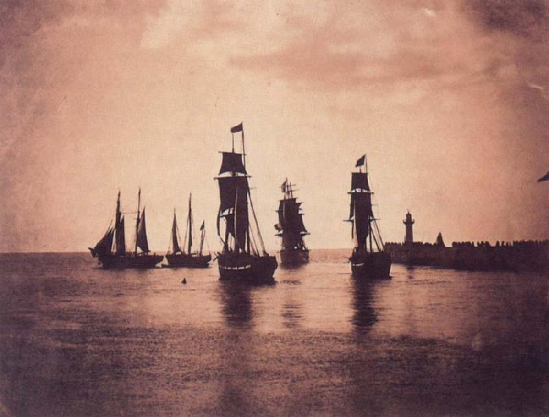 Gustave Le Gray Ship leaving  Harbor