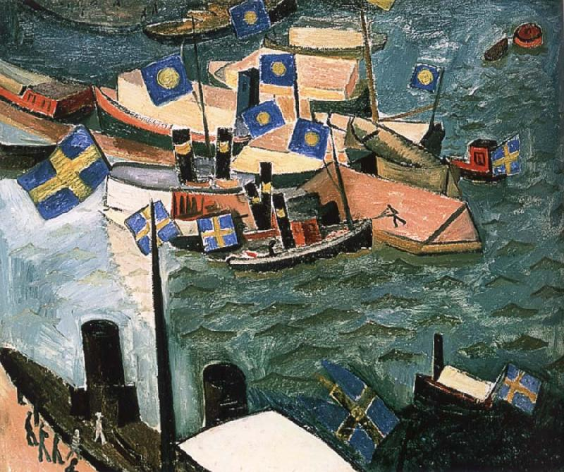 Isaac Grunewald The flag in Port