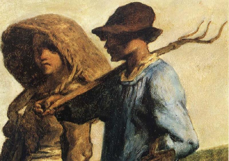 Jean Francois Millet Detail of People go to work