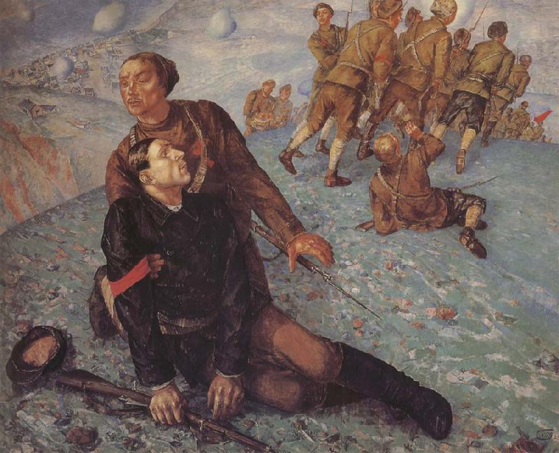Kuzma Petrov-Vodkin Death of the Commissar