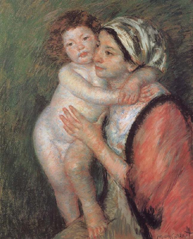 Mary Cassatt Mother and son oil painting image