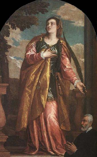 Paolo  Veronese St. Lucy and a Donor oil painting image