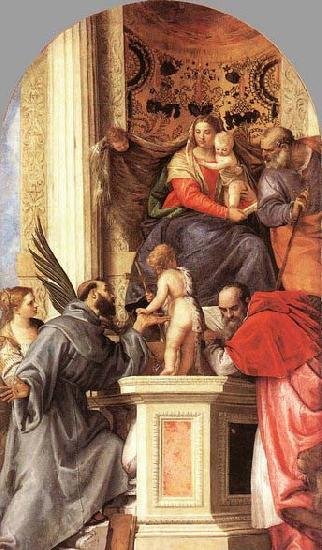 Paolo Veronese Madonna Enthroned with Saints oil painting image