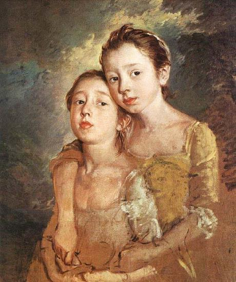 Thomas Gainsborough The Artist-s Daughters with a Cat