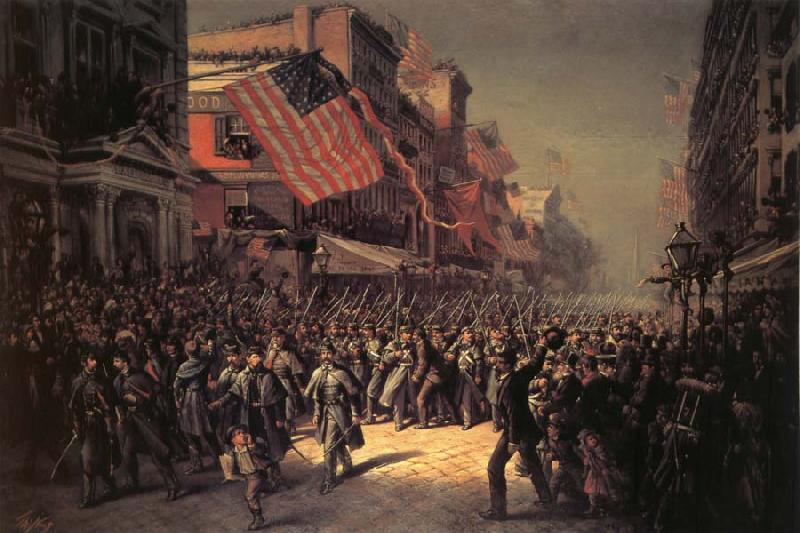 Thomas Nast The Departure of the Seventh Regiment to the War