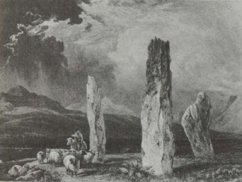 William Andrews Nesfield Stone circle,near Tormore,Arran oil painting image