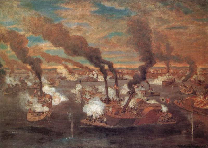 unknow artist The Great Naval Battle at Memphis